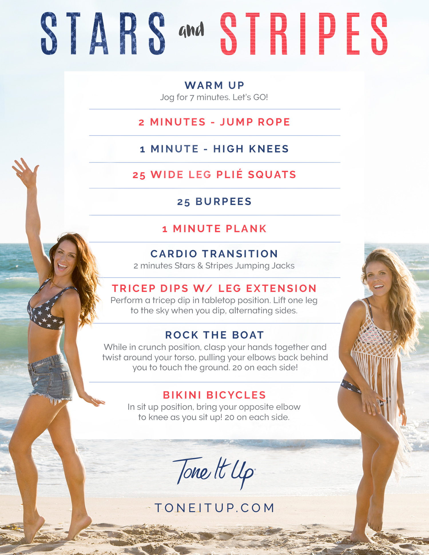 stars and stripes 4th of july workout tone it up