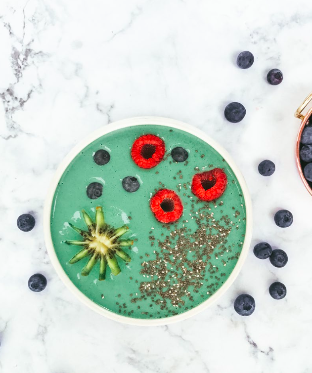 Tone It Up Best Healthy Spirulina Superfood Smoothie Bowl