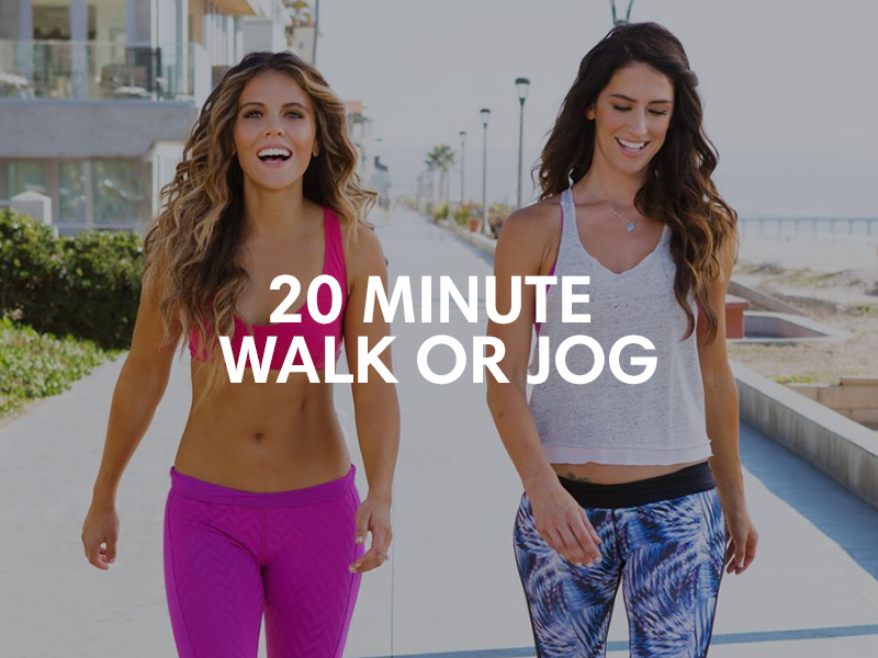 tone it up weekly schedule walk or jog