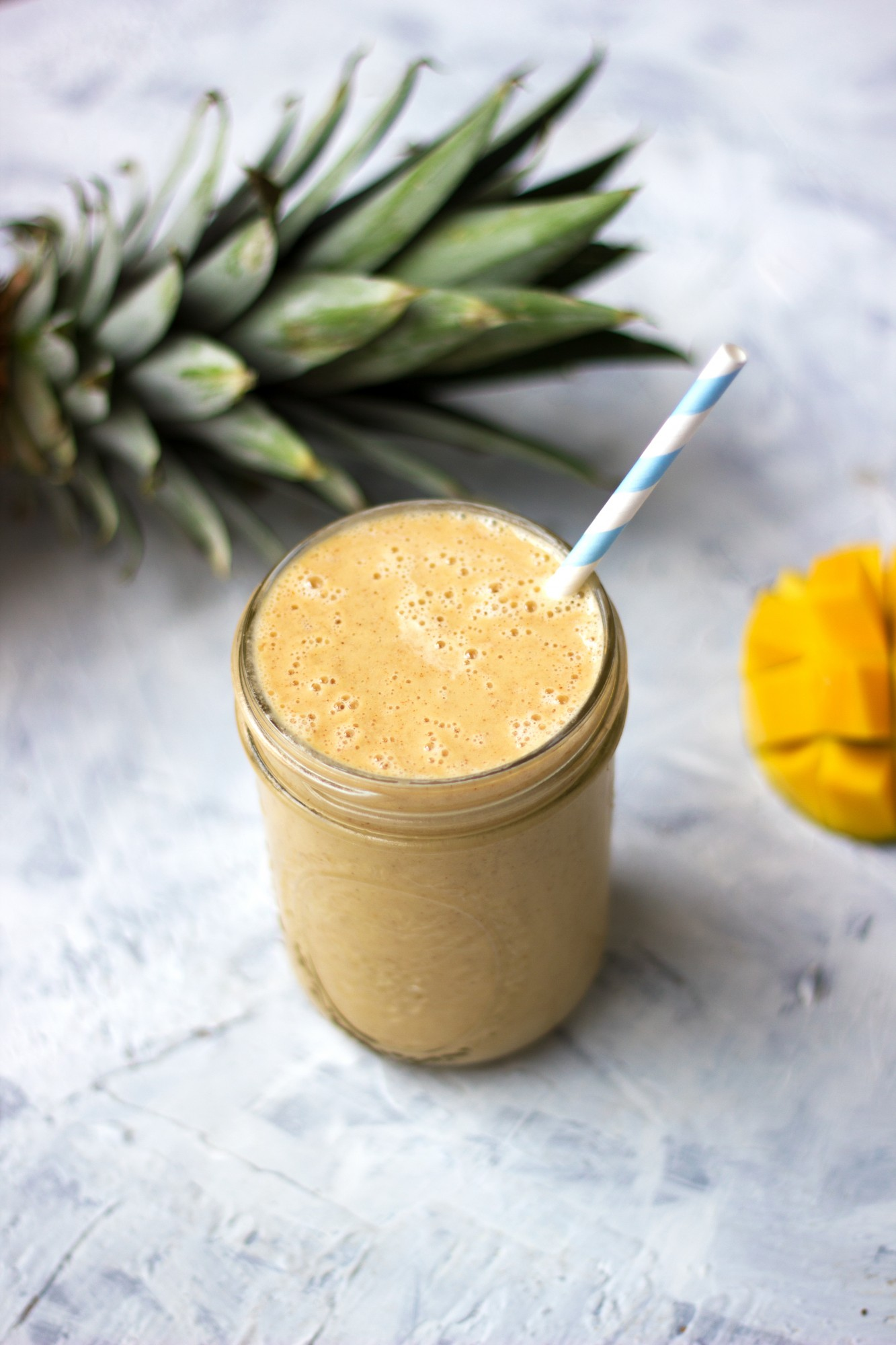 Tone It Up Healthy Pineapple Mango Cauliflower Smoothie Recipe