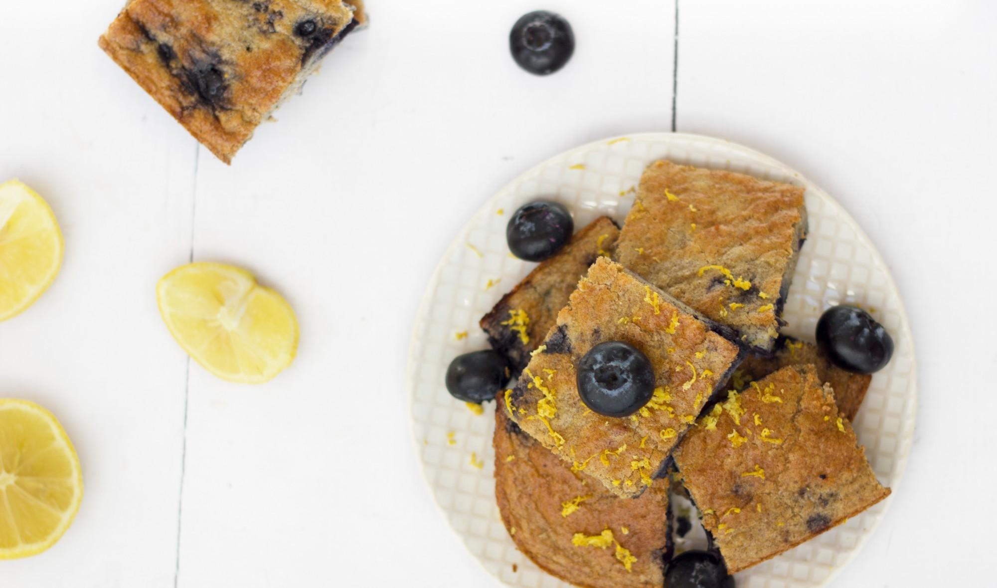 tone it up nutrition plan healthy recipe blueberry lemon zest breakfast cake protein