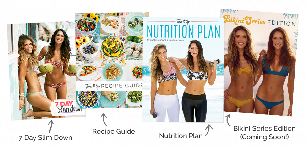 tone it up nutrition plan all editions bikini series 2017 meals recipes