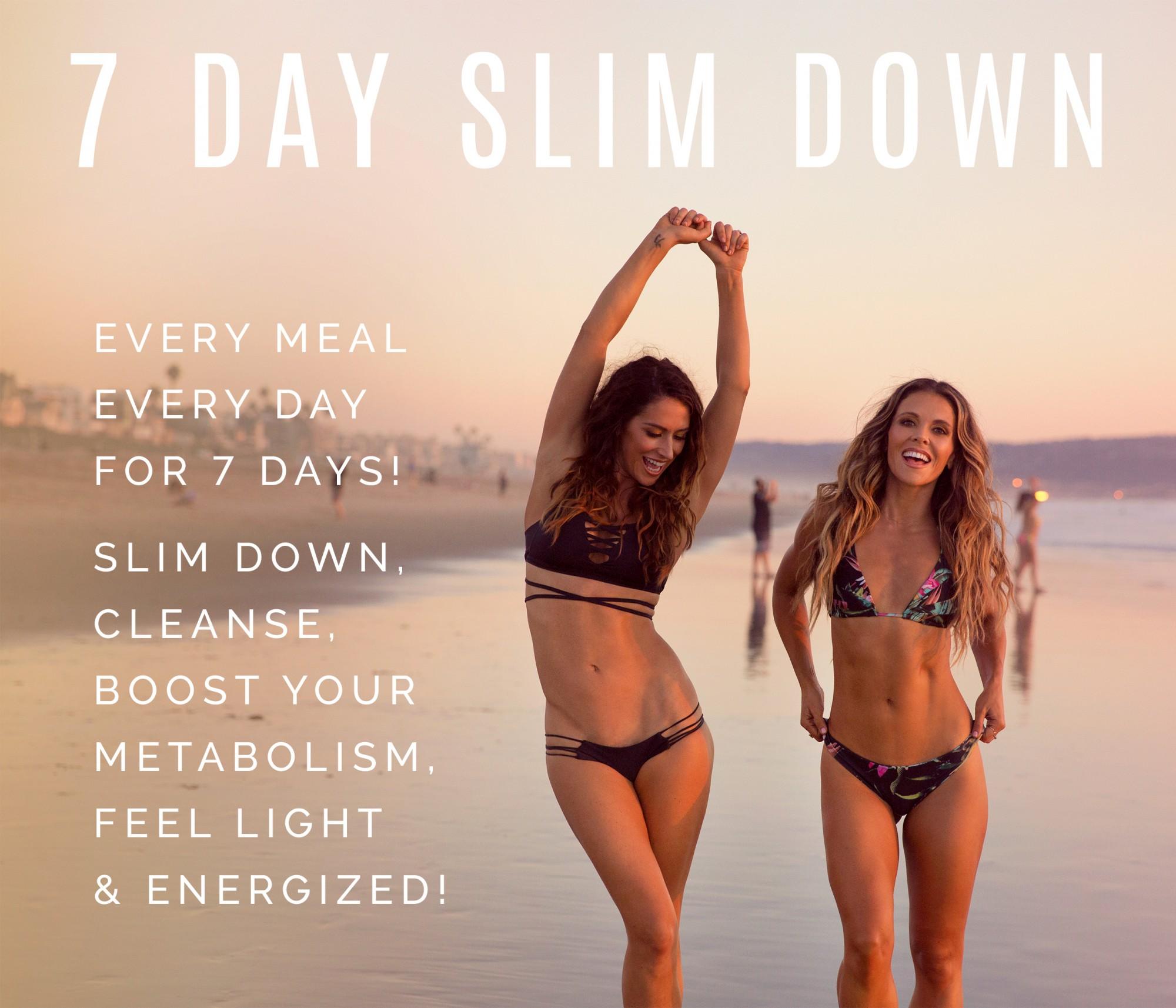 tone it up slim down weight loss de-bloat