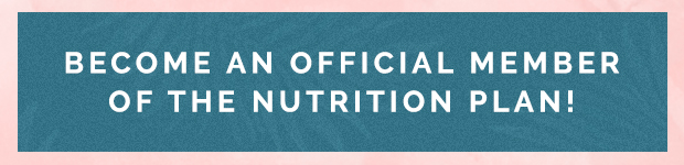 Nutrition Plan Become A Member