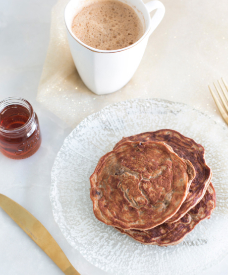 Try this healthy Maple Coffee pancake recipe from the Tone It Up Nutrition Plan, made with clean Tone It Up Protein Powder!