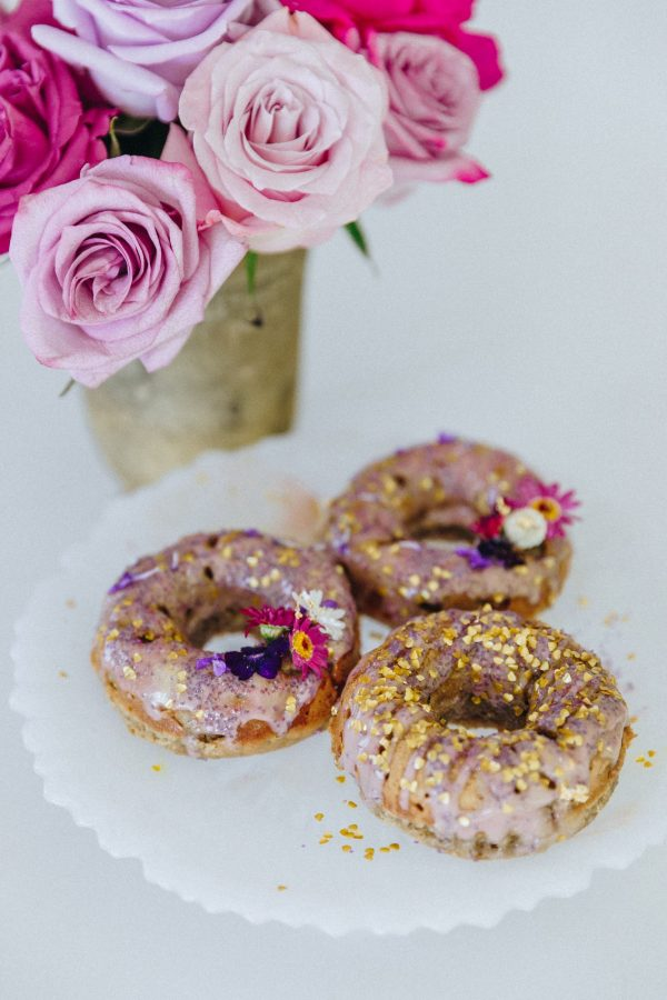 Healthy and delicious Apple Cinnamon Donuts made with the clean vanilla Tone It Up Protein!