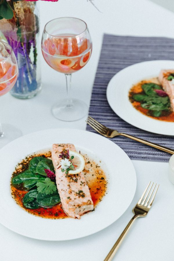 Try this amazing Chili-Tamari Steamed Salmon recipe from the Tone It Up Love Your Body Meal Plan!