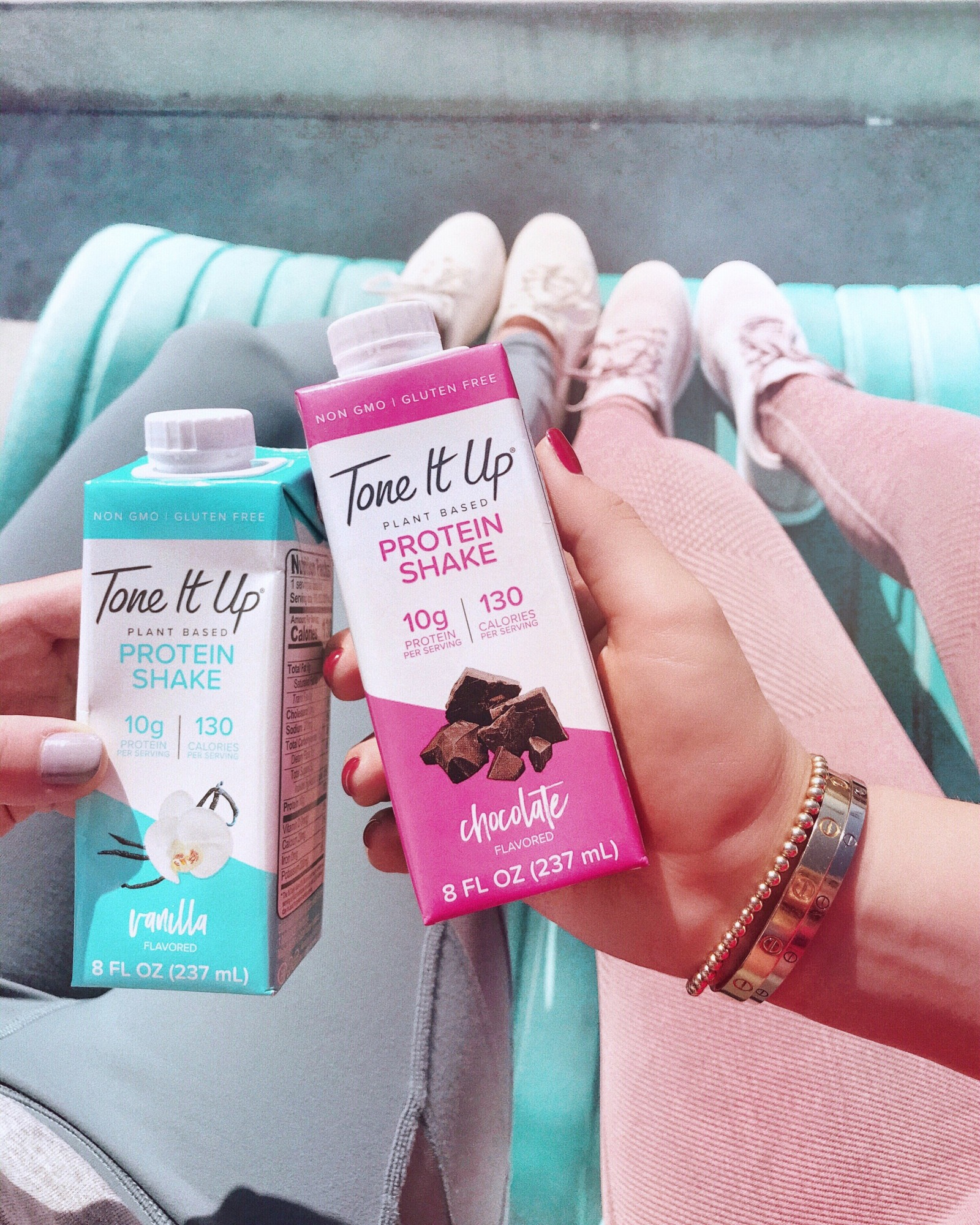 Tone It Up Protein shakes are easy, portable, convenient, protein-packed, healthy, and slimming.
