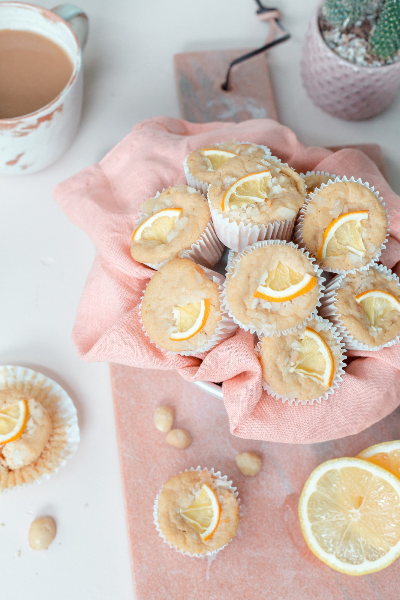 Try this healthy, easy, and delicious Lemon Macadamia Mini Muffin recipe.