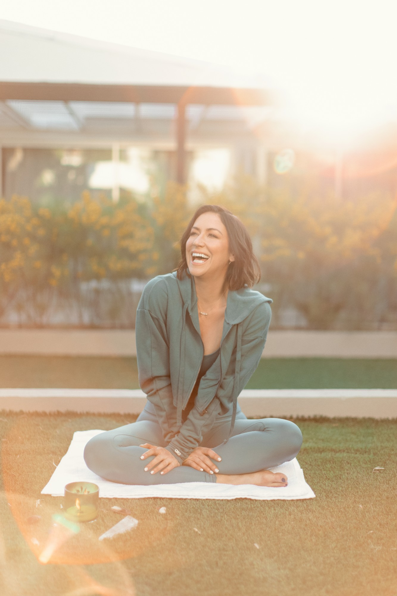 Join Karena Dawn from Tone It Up for a guided meditation to harness positive energy.